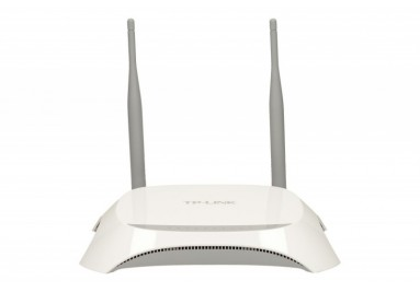TP-LINK MR3420 router xDSL WiFi N300/3G 4xLAN 4x10/100 1xWAN 1xUSB na modem - 119 zł