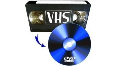Przegrywamy kasety VHS na DVD 1h - 10 zł